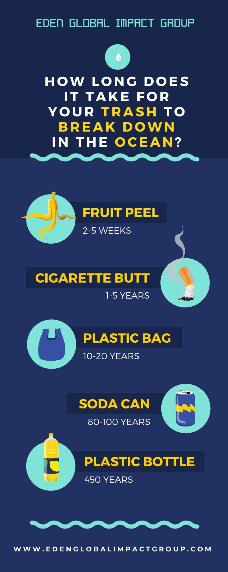 Ocean Trash Breakdown Infographic